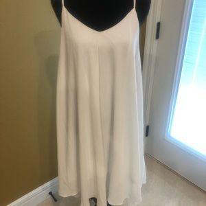 White spaghetti strap dress. Super flowy